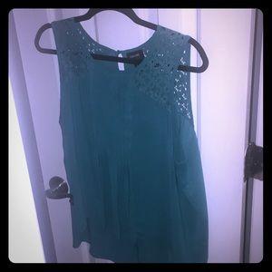 Blue see through blouse